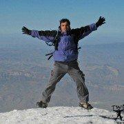 A Climber summit of Mount Ararat 5134m