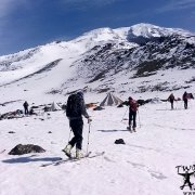 Climbing and skiing on Mount Ararat.