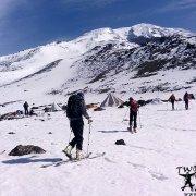 Climbing and skiing on Mount Ararat.