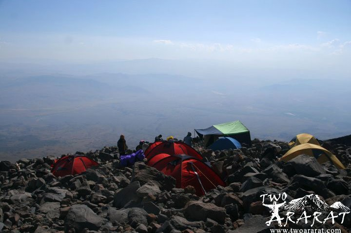 A view from Mount Ararat Second camp area.